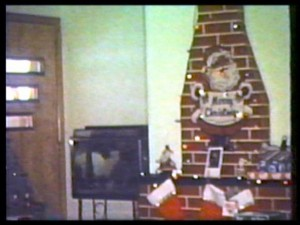 Cardboard Christmas Fireplace